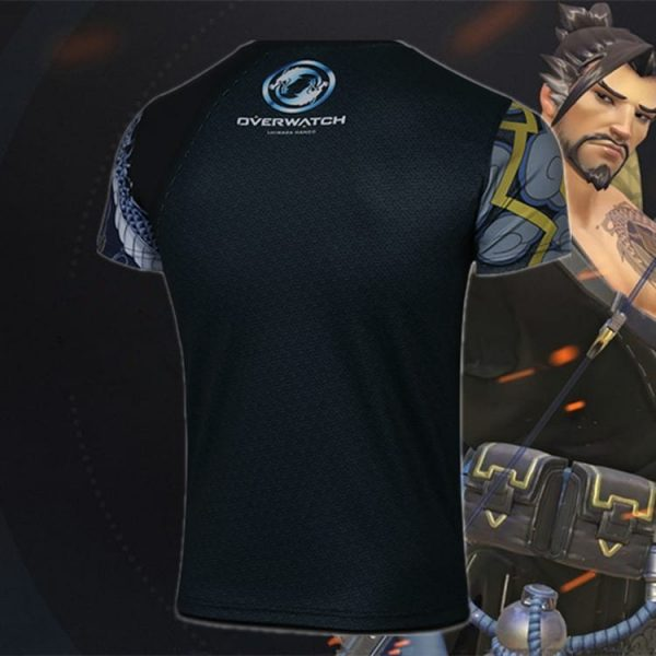 Overwatch Hanzo Costume T-Shirt with One Sleeve 3