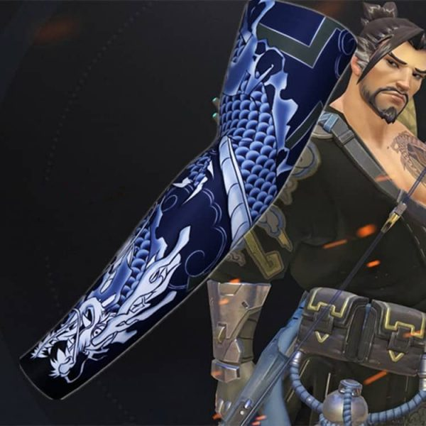 Overwatch Hanzo Costume T-Shirt with One Sleeve 4