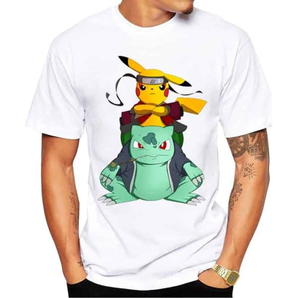 Pokemon Go Tshirt - Pikachu and Bulbasaur Ninjas