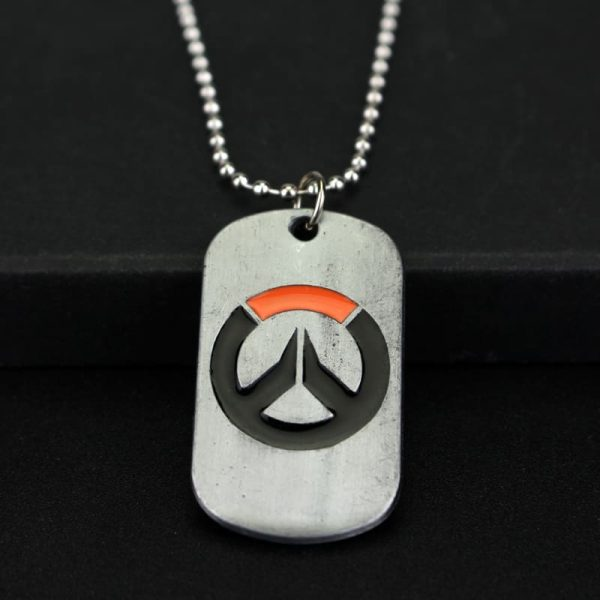 Overwatch Logo Necklace front
