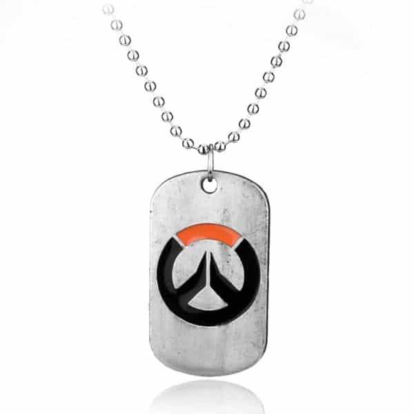Overwatch Logo Necklace white