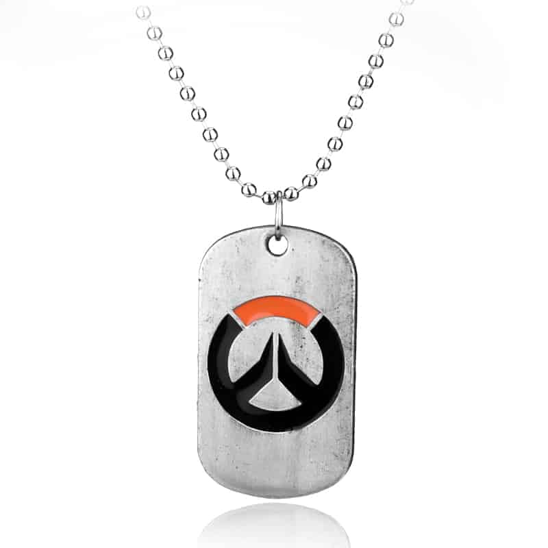 Overwatch Logo Necklace white