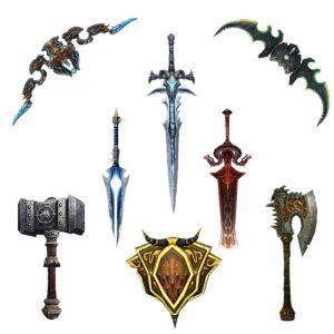 World of Warcraft 3D DIY Weapon Models