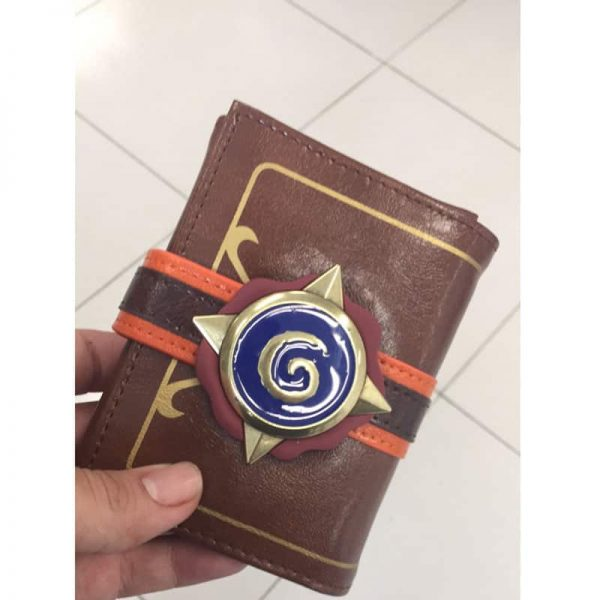 Hearthstone Wallet with buckle in a hand