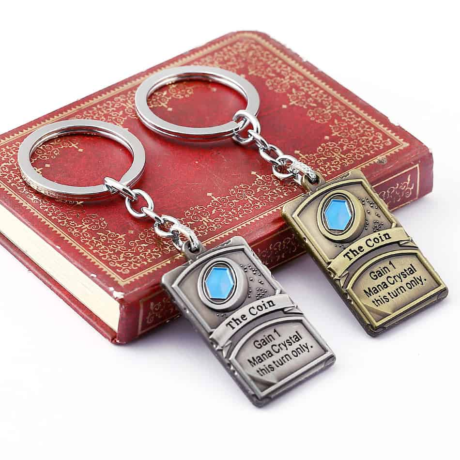 Hearthstone Keychain Bronze and Silver