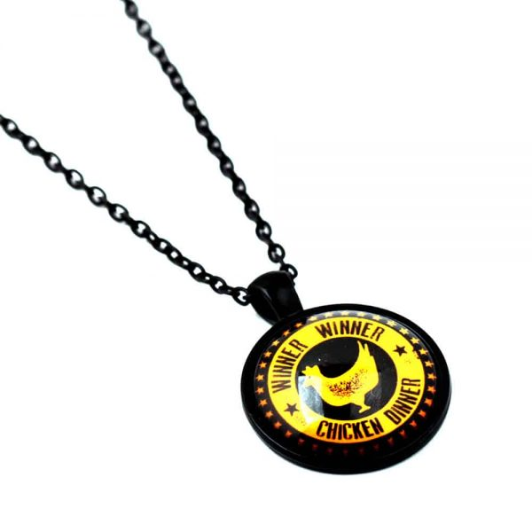 Winner Winner Chicken Dinner Pendant Black/Gold