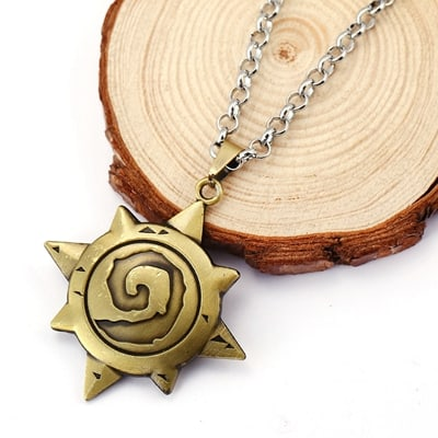 Hearthstone necklace - Yellow