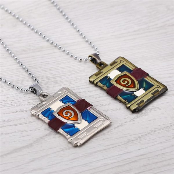 Hearthstone Card Pack Necklace - Gold and Silver