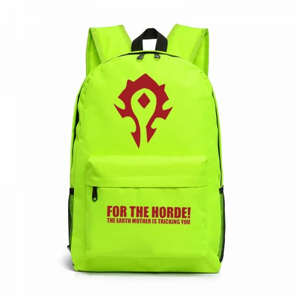 World of Warcraft Horde Backpack Green