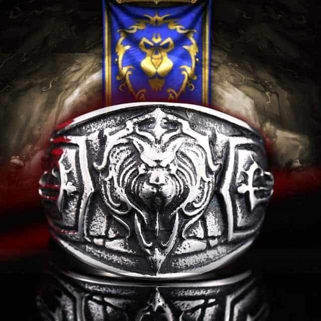 World of Warcraft Alliance Steel Ring