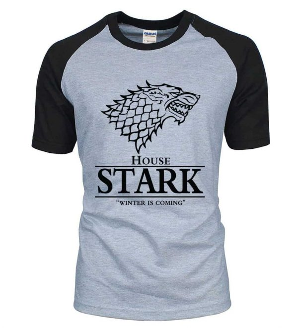 Game of Thrones T-shirt Grey and Black with Black Stark