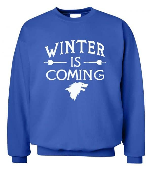 GoT Sweatshirts - Winter is Coming - Blue and White