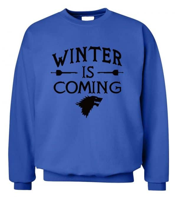 GoT Sweatshirts - Winter is Coming - Blue and Black