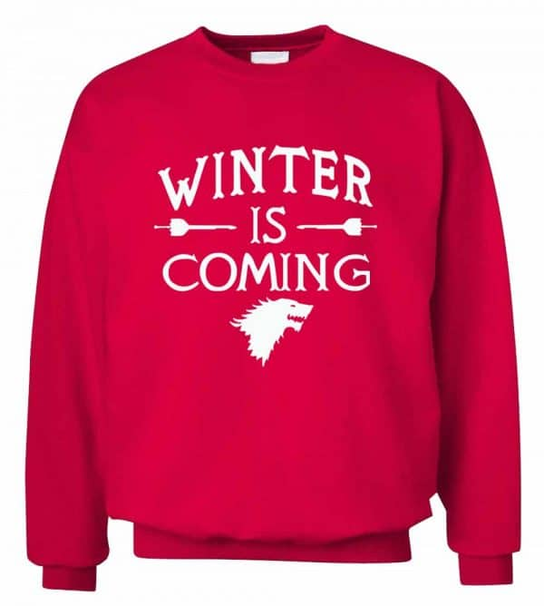 GoT Sweatshirts - Winter is Coming - Red and White