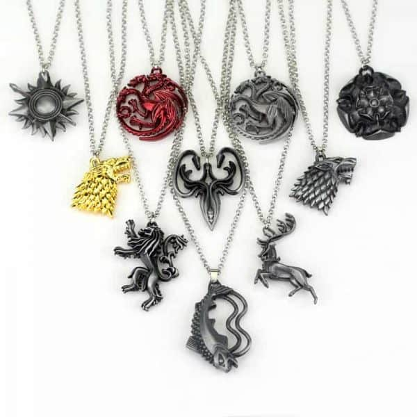 Game of Thrones Family Houses Necklaces