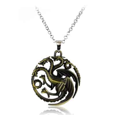 Game of Thrones Family Houses Necklaces - Targaryen Bronze