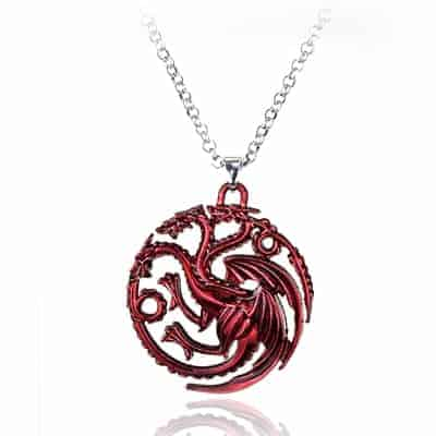 Game of Thrones Family Houses Necklaces - Targaryen Red