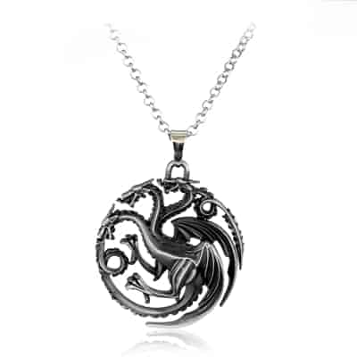 Game of Thrones Family Houses Necklaces - Targaryen Silver