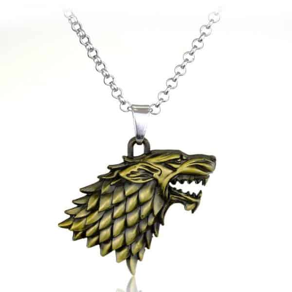 Game of Thrones Family Houses Necklaces - Stark Bronze
