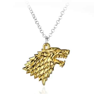 Game of Thrones Family Houses Necklaces - Stark Gold