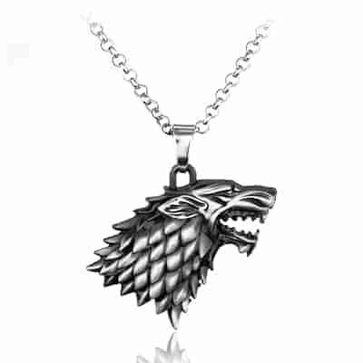 Game of Thrones Family Houses Necklaces - Stark Silver
