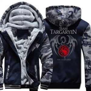 Game Of Thrones Warm Printed Hoodies - Targaryen