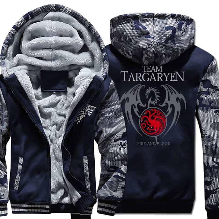 Game Of Thrones Warm Printed Hoodies - Targaryen