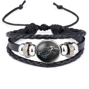 Game Of Thrones Unisex Leather Bracelet - House Stark