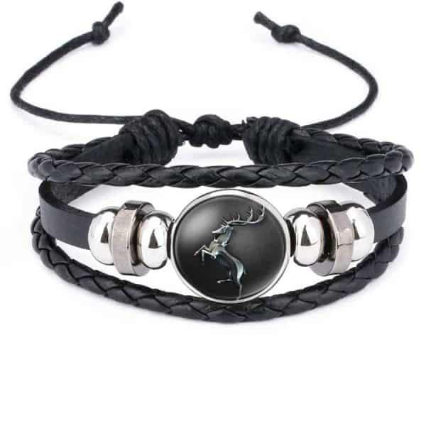 Game Of Thrones Unisex Leather Bracelet - House Baratheon