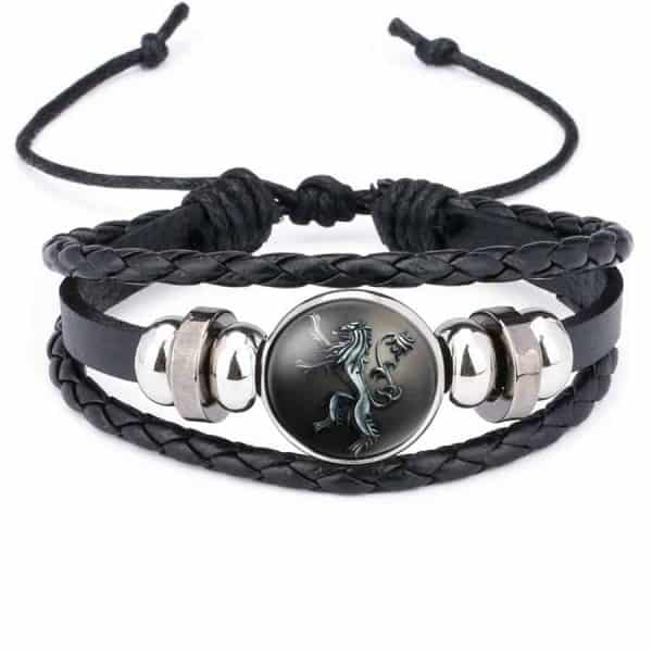 Game Of Thrones Unisex Leather Bracelet - Lannisters