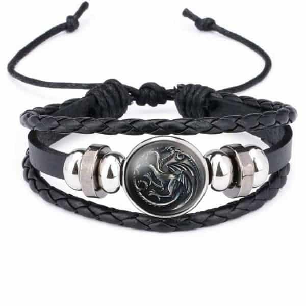 Game Of Thrones Unisex Leather Bracelet - House Targaryen