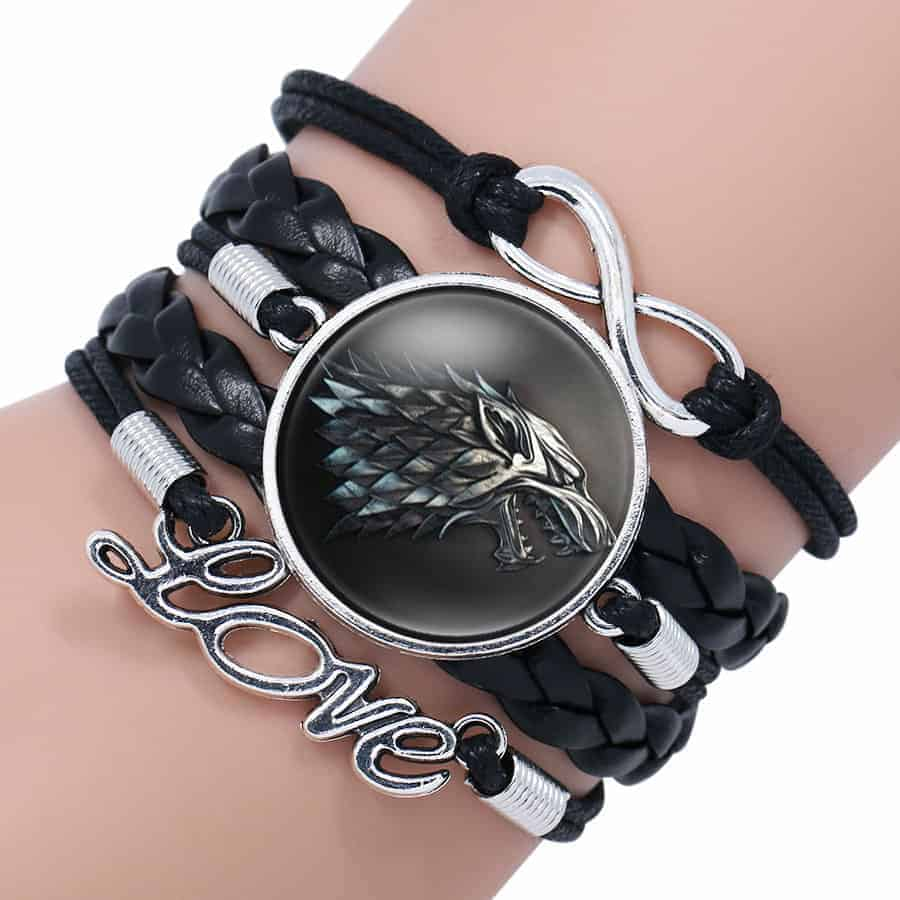Game of Thrones Woman Leather Bracelet - Stark