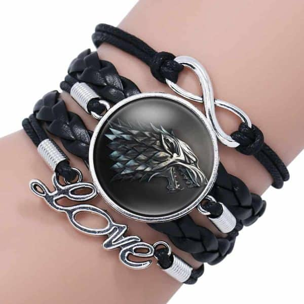 Game of Thrones Woman Leather Bracelet - House Stark