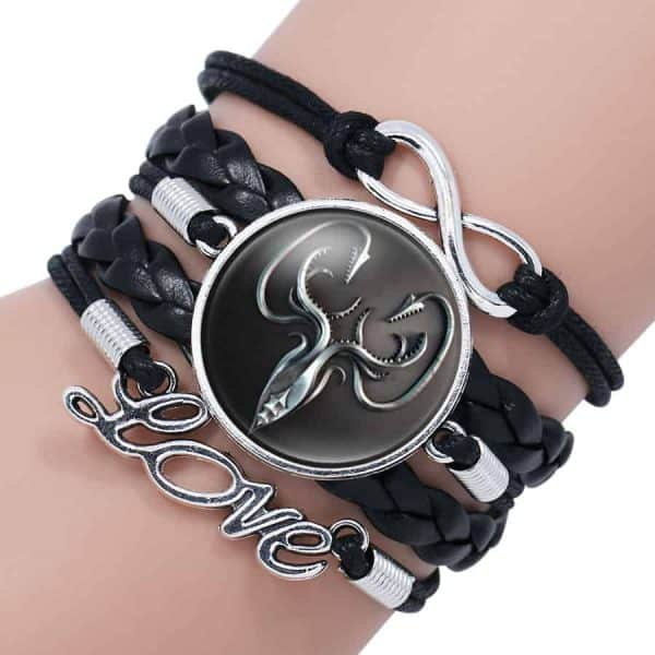 Game of Thrones Woman Leather Bracelet - Greyjoy