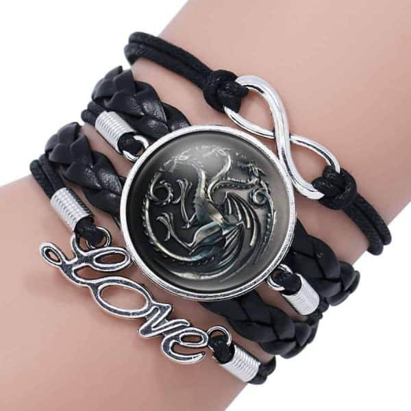 Game of Thrones Woman Leather Bracelet - Targaryen