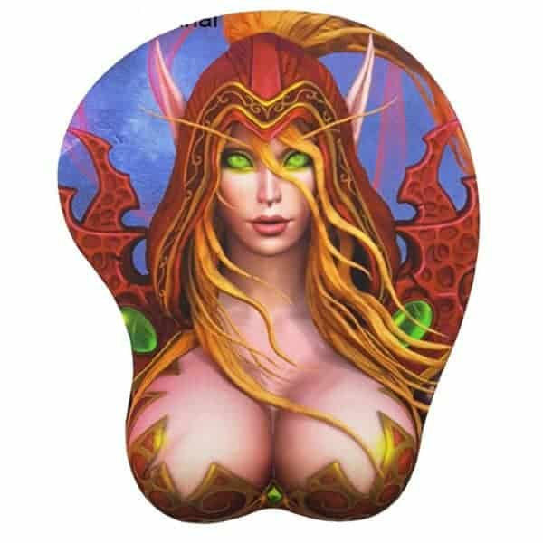 World of Warcraft Gaming Gel Mouse Pad with Wrist Rest - Valeera Sanguinar