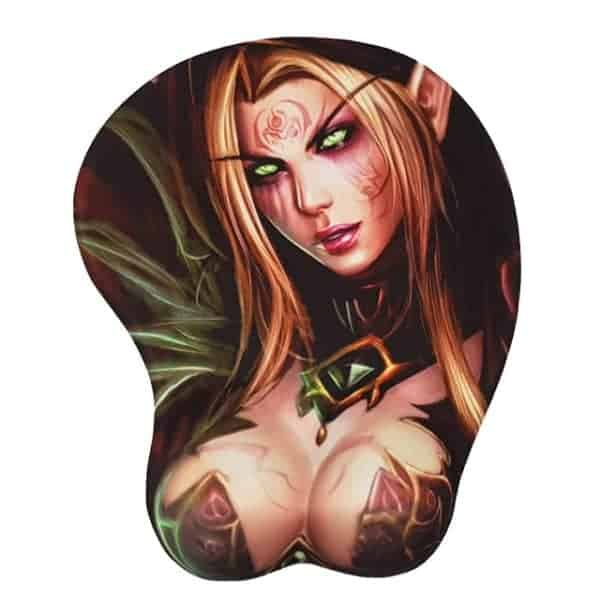 World of Warcraft Gaming Gel Mouse Pad with Wrist Rest - Blood Elf