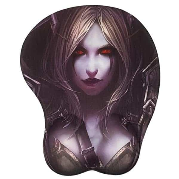 World of Warcraft Gaming Gel Mouse Pad with Wrist Rest - Sylvanas