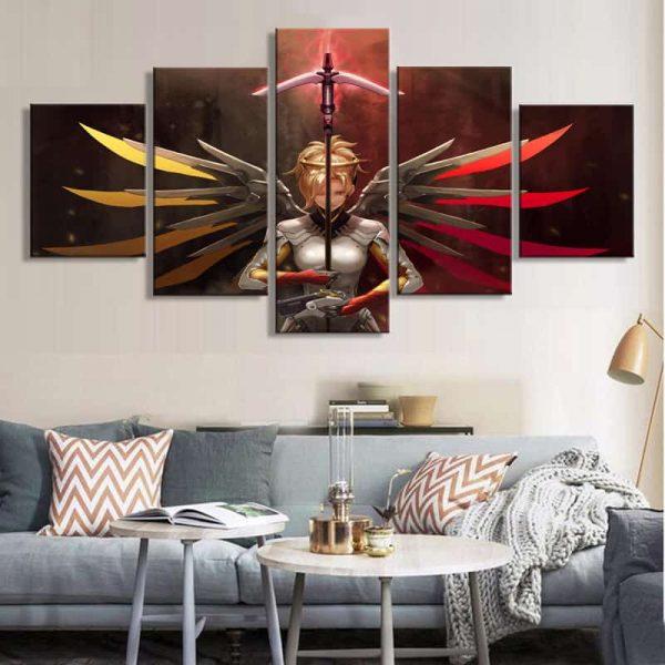 Overwatch Guardian Mercy Canvas