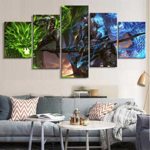 Overwatch Genji and Hanzo 5-piece Canvas