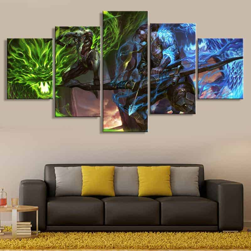 Buy Overwatch Genji And Hanzo 5 Piece Canvas Set Free