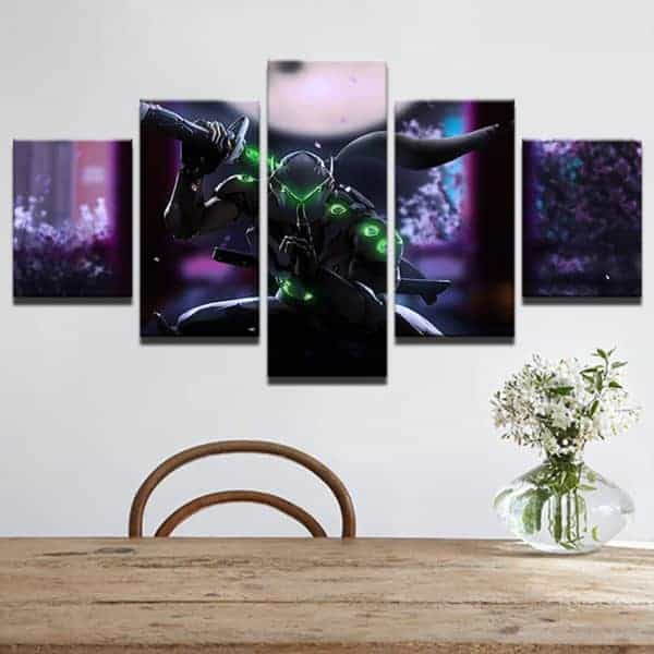 Overwatch 5-piece Canvas with ninja Genji