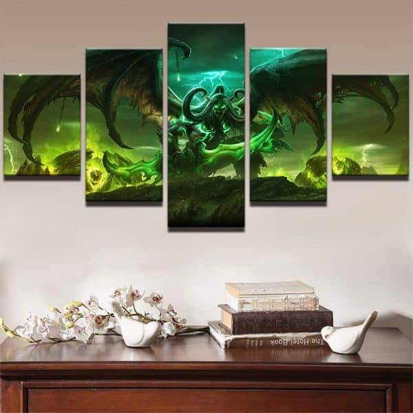 World of Warcraft Legion Wall 5-Piece Canvas - Illidan the Betrayer