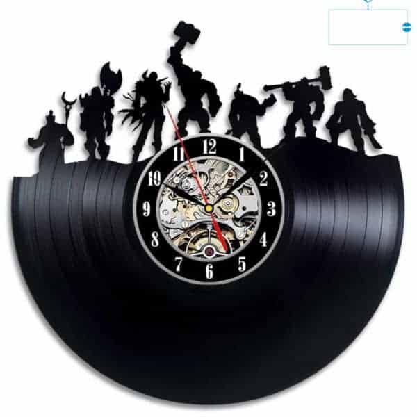 World of Warcraft Hero Vintage Vinyl Wall Clock