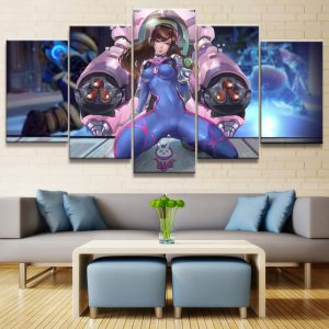 Overwatch D.Va 5-Piece Canvas Set