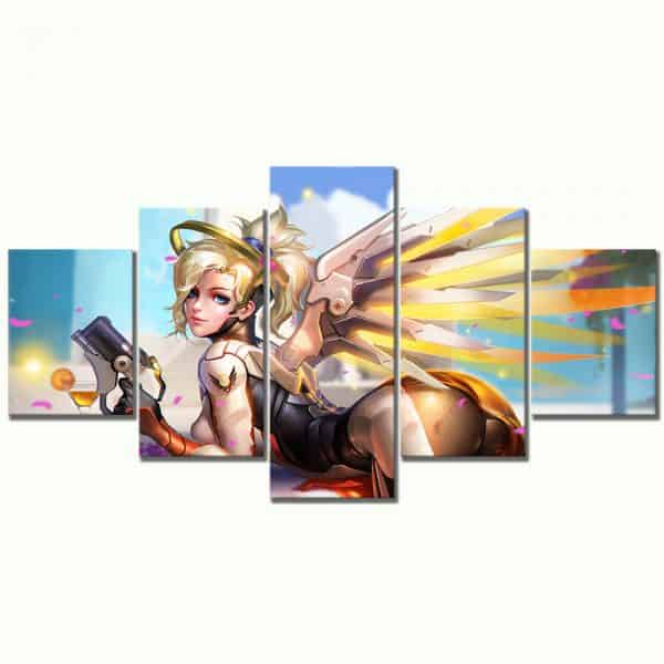 Overwatch Heroic Mercy 5-Piece Canvas Set